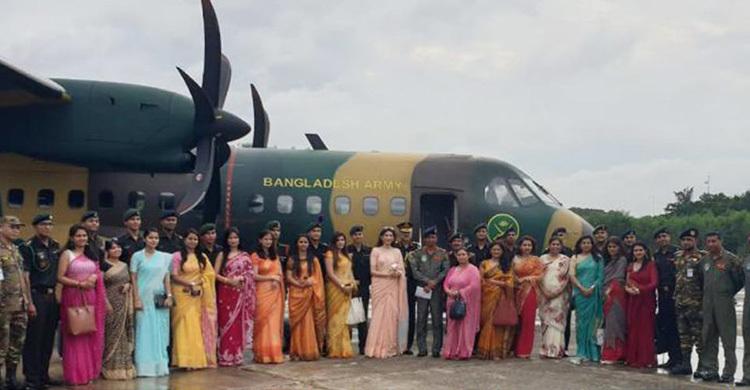 ভারতীয় সেনাবাহিনীর ১৫ তরুণ অফিসার সস্ত্রীক বাংলাদেশে