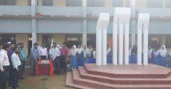 কুলাউড়া বালিকা উচ্চ বিদ্যালয়ে শহীদ মিনারের উদ্বোধন