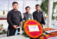 ধানমন্ডি ও বনানী কবরস্থানে জাতীয় শোক দিবসে প্রধানমন্ত্রীর প্রটোকল অফিসারের শ্রদ্ধা