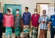 জগন্নাথপুরে থানায় এসে ৫ আসামির আত্মসমর্পণ